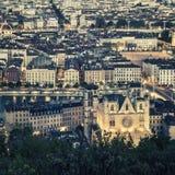 Άποψη της πόλης της Λυών Στοκ εικόνα με δικαίωμα ελεύθερης χρήσης