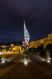 Άποψη της πόλης της Πράγας στη νύχτα, Δημοκρατία της Τσεχίας Στοκ εικόνα με δικαίωμα ελεύθερης χρήσης