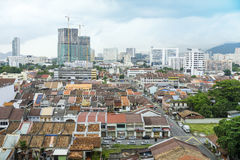 Άποψη της πόλης της Τζωρτζτάουν σε Penang Μαλαισία Ασία Στοκ εικόνα με δικαίωμα ελεύθερης χρήσης