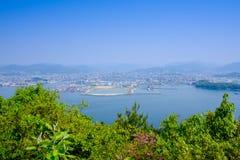 Άποψη της πόλης της Χιροσίμα από Ninoshima Στοκ φωτογραφία με δικαίωμα ελεύθερης χρήσης