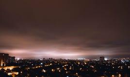 Άποψη της πόλης τη νύχτα Στοκ εικόνα με δικαίωμα ελεύθερης χρήσης