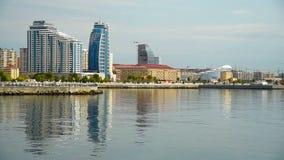 Άποψη της πόλης του Μπακού απόθεμα βίντεο