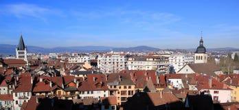 Πανόραμα πόλεων του Annecy, Γαλλία Στοκ Εικόνες