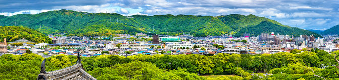 Άποψη της πόλης του Himeji από το κάστρο - Ιαπωνία Στοκ εικόνες με δικαίωμα ελεύθερης χρήσης