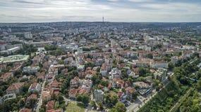 Άποψη της πόλης του Ruse άνωθεν Στοκ φωτογραφίες με δικαίωμα ελεύθερης χρήσης