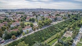 Άποψη της πόλης του Ruse άνωθεν Στοκ εικόνα με δικαίωμα ελεύθερης χρήσης