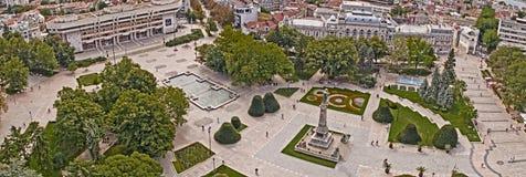 Άποψη της πόλης του Ruse κεντρικός άνωθεν Στοκ φωτογραφία με δικαίωμα ελεύθερης χρήσης