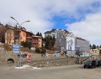 Άποψη της πόλης του ST Moritz στην Ελβετία Στοκ φωτογραφία με δικαίωμα ελεύθερης χρήσης