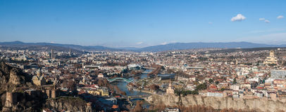 Άποψη της πόλης του Tbilisi Στοκ Εικόνες