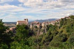 Άποψη της πόλης Artena στην περιοχή του Λάτσιο - Ιταλία Στοκ Εικόνες