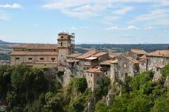 Άποψη της πόλης Artena στην περιοχή του Λάτσιο - Ιταλία Στοκ εικόνες με δικαίωμα ελεύθερης χρήσης