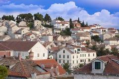 Άποψη της πόλης Hvar, Κροατία Στοκ Εικόνες