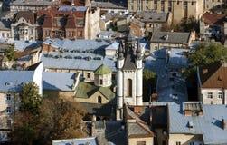 Άποψη της πόλης Lviv Στοκ Εικόνες