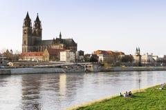 Άποψη της πόλης Magdeburg Στοκ Φωτογραφία