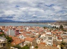 Άποψη της πόλης Nafplio, Ελλάδα Στοκ εικόνα με δικαίωμα ελεύθερης χρήσης