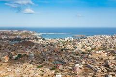 Άποψη της πόλης Praia στο Σαντιάγο - πρωτεύουσα των νησιών Πράσινου Ακρωτηρίου - Στοκ εικόνα με δικαίωμα ελεύθερης χρήσης