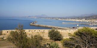 Άποψη της πόλης Rethymno από το φρούριο Fortezz Στοκ εικόνα με δικαίωμα ελεύθερης χρήσης