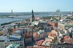 Άποψη της Ρήγας άνωθεν Στοκ Εικόνες