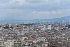Άποψη της Ρώμης άνωθεν. Στοκ φωτογραφία με δικαίωμα ελεύθερης χρήσης
