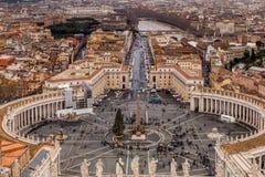 Άποψη της Ρώμης από τη βασιλική SAN Peter Στοκ εικόνα με δικαίωμα ελεύθερης χρήσης