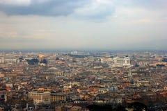 Άποψη της Ρώμης από το θόλο της βασιλικής του ST Peter το Φεβρουάριο, Ρ Στοκ Φωτογραφία