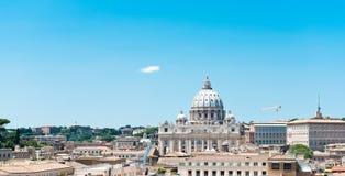Άποψη της Ρώμης από Castel Sant'Angelo Στοκ φωτογραφία με δικαίωμα ελεύθερης χρήσης