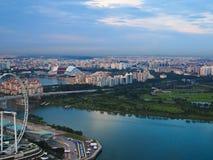 Άποψη της Σιγκαπούρης Στοκ φωτογραφία με δικαίωμα ελεύθερης χρήσης