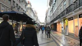 Άποψη της στο κέντρο της πόλης Λισσαβώνας απόθεμα βίντεο