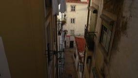 Άποψη της στο κέντρο της πόλης Λισσαβώνας φιλμ μικρού μήκους