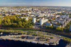 Άποψη της Τάμπερε από τον τηλεοπτικό πύργο Στοκ Εικόνες