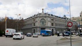 Άποψη της τράπεζας της Ισπανίας, Μαδρίτη Banco de España Στοκ Εικόνα