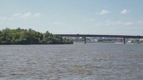 Άποψη της υποχωρώντας γέφυρας απόθεμα βίντεο