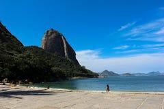 Άποψη της φραντζόλας ζάχαρης και του κόλπου Guanabara Στοκ φωτογραφία με δικαίωμα ελεύθερης χρήσης