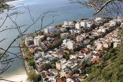 Άποψη της φραντζόλας ζάχαρης και του κόλπου Guanabara Στοκ Εικόνες