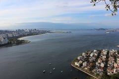 Άποψη της φραντζόλας ζάχαρης και του κόλπου Guanabara Στοκ Φωτογραφίες