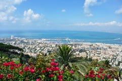 Άποψη της Χάιφα από το λόφο στοκ εικόνα