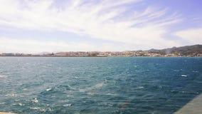 Άποψη της Ceuta, Ισπανία του λιμένα στο περίκλειστο έδαφος της Ceuta στη Βόρεια Αφρική απόθεμα βίντεο