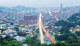 Άποψη της Dawn Keelung, μια όμορφη λιμενική πόλη στη βόρεια Ταϊβάν Στοκ Φωτογραφία