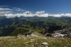 Άποψη της Mont Blanc από το LE Grand Mont Στοκ φωτογραφίες με δικαίωμα ελεύθερης χρήσης