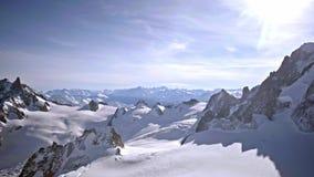 Άποψη της Mont Blanc Γαλλία απόθεμα βίντεο