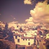 Άποψη της Ronda, Ισπανία στο εκλεκτής ποιότητας αναδρομικό ύφος με το χαρακτηριστικό α τους Στοκ φωτογραφίες με δικαίωμα ελεύθερης χρήσης