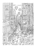 Άποψη της Times Square στη Νέα Υόρκη απεικόνιση αποθεμάτων