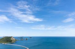 Άποψη τοπίων από την κορυφή του νησιού στοκ εικόνα