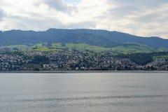 Άποψη τοπίων από τη λίμνη Ζυρίχη Στοκ Φωτογραφία