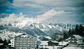 Άποψη τοπίων βουνών Στοκ Φωτογραφία