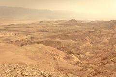 Άποψη τοπίων κοιλάδων βουνών ερήμων, διακινούμενη φύση του Ισραήλ Στοκ φωτογραφία με δικαίωμα ελεύθερης χρήσης