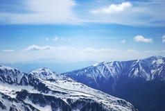 Άποψη τοπίων μιας σειράς βουνών Στοκ εικόνα με δικαίωμα ελεύθερης χρήσης