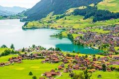 Άποψη τοπίων στην Ελβετία Στοκ φωτογραφία με δικαίωμα ελεύθερης χρήσης