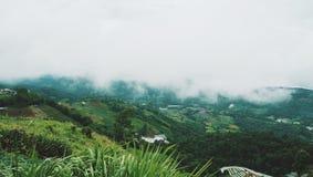 άποψη τοπίων στο monjam Chaingmai Ταϊλάνδη στοκ εικόνες με δικαίωμα ελεύθερης χρήσης