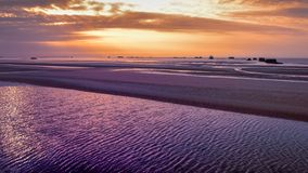 Άποψη τοπίων της παραλίας άμμου Στοκ Φωτογραφία